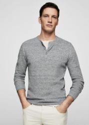 MANGO MAN Melierter Henley-Pullover