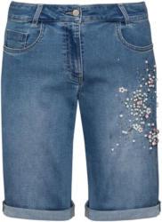 Damen Straight-Shorts mit Perlen-Applikation