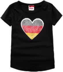 Mädchen Fan T-Shirt mit Wendepailletten