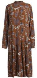 Langärmeliges, bedrucktes Kleid