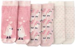 3 Paar Baby Socken mit Vogel-Motiven