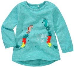 Baby Langarmshirt mit Seepferdchen-Motiven