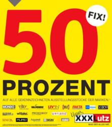 50% auf gekennzeichnete Ausstellungsstücke XXXLutz