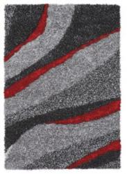 Novel Hochflorteppich rot