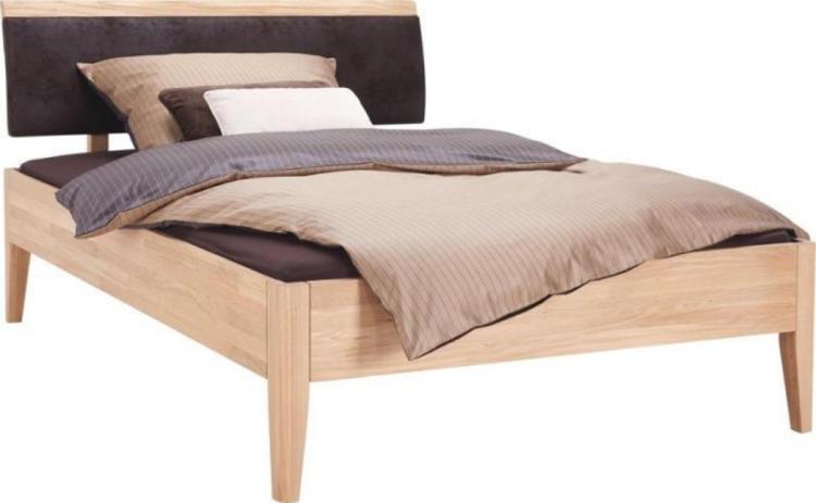 wogibtswas.at   Linea Natura Bett In Holz, Textil Dunkelbraun, Eichefarben dunkelbraun ...
