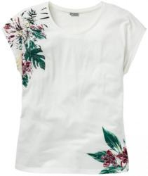 Damen-T-Shirt mit Blumen-Aufdruck, große Größen