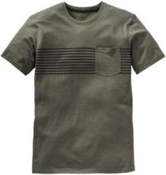 Herren-T-Shirt mit Streifen auf der Brust