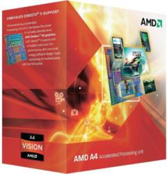 AMD A4-3300 APU mit AMD Radeon™ HD 6410D Grafikeinheit Boxed 2x 2500 MHz Dual Core Sockel AMD FM1 65 W