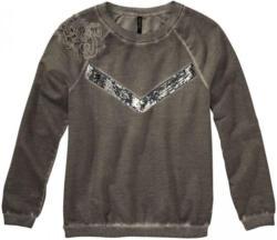 Damen-Sweatshirt mit Spitzeneinsatz und Pailletten