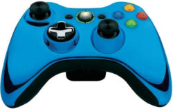Microsoft Xbox 360 Wireless Controller in chromblau