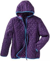Mädchen-Jacke mit gestepptem Herzmuster