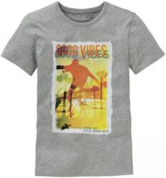 Jungen-T-Shirt mit Skater-Frontaufdruck