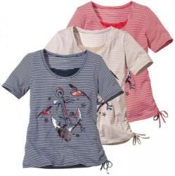 Damen-T-Shirt mit maritimem Frontaufdruck