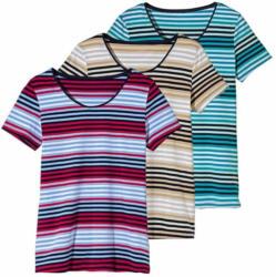 Damen-T-Shirt mit modischen Querstreifen