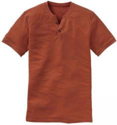 Herren-T-Shirt mit kleiner Knopfleiste