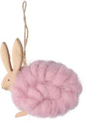 Dekohänger-Hase mit Wolle