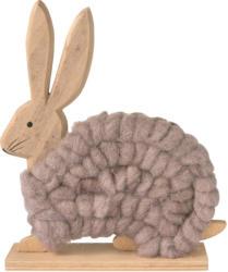 Deko-Hasenfigur mit Wolle