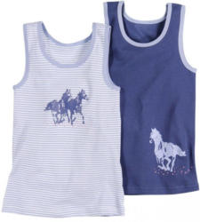 Mädchen-Unterhemd, 2er Pack