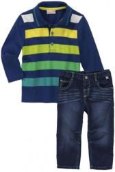 Baby-Jungen-Set mit Poloshirt, 2-teilig