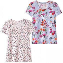 Damen-T-Shirt mit hübschen Blumen