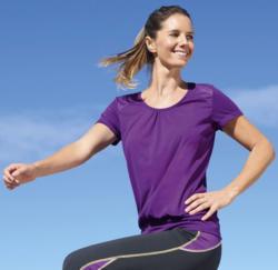Damen-Fitness-T-Shirt