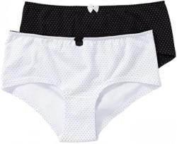 Damen-Panty mit Kontrast-Zierschleife, 2er Pack