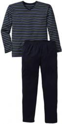 Herren-Schlafanzug mit Streifen-Muster, 2-teilig