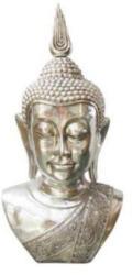 Ambia Home Buddhakopf silberfarben