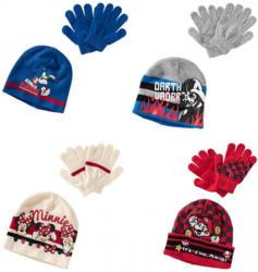Kinder-Set mit Mütze und Handschuhen