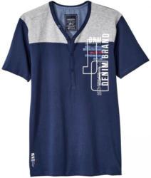 Herren-T-Shirt im Henley- Style