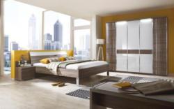 Vito Schlafzimmer In Trüffeleichefarben, Weiß  trüffeleichefarben, weiß