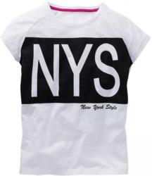 Mädchen-T-Shirt mit Buchstaben-Frontaufdruck