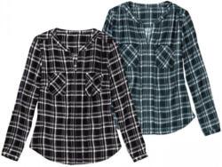 Damen-Bluse mit trendigem Karomuster