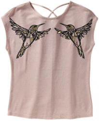 Damen-T-Shirt mit Kolibri-Frontaufdruck