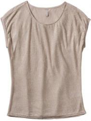 Damen-T-Shirt in Web-Optik