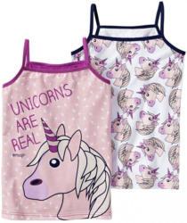 Mädchen-Unterhemd mit Einhorn-Motiven, 2er Pack