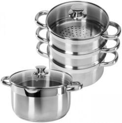 Edelstahl-Kochtopf oder Dampfgarer-Set