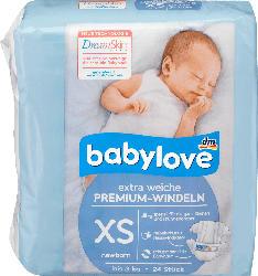 babylove Windeln Premium extra weich Größe XS, newborn bis 3kg