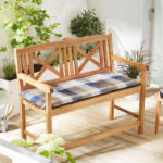 Solax-Sunshine Sitzbank-Auflage, Karo-Blau-Braun