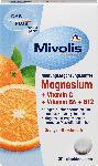 dm-drogerie markt Mivolis Magnesium + Vitamin C + Vitamin B6 + B12, Lutschtabletten 30 St.