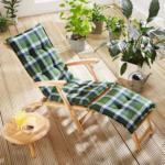 Solax-Sunshine Deckchair-Auflage, Karo-Blau-Grün