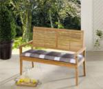 Solax-Sunshine Sitzbank-Auflage, Karo Grau-Weiß