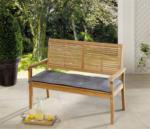 Solax-Sunshine Sitzbank-Auflage, Blume Grau