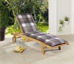 Solax-Sunshine Rollliegen-Polsterauflage, Karo Grau-Weiß - 2er Set