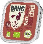 DANO Nassfutter für Hunde, Bio Pastete mit Rind