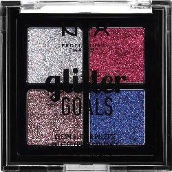 NYX PROFESSIONAL MAKEUP Lidschattenpalette Glitter Goals Cream Quad Palette Love on Top 03