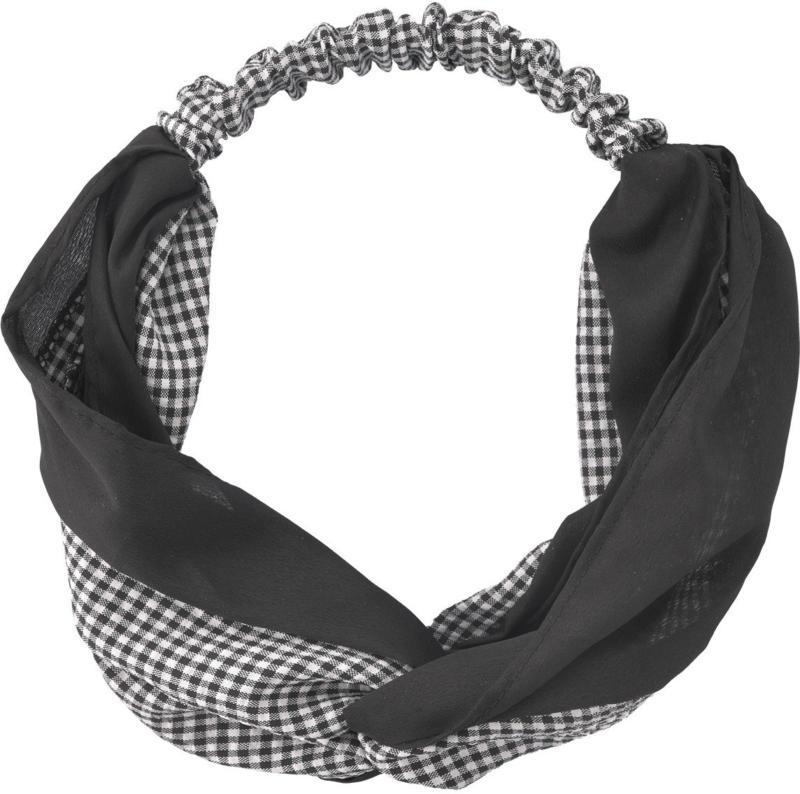 Damen Haarband mit Karo-Muster