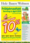 Holz Possling Frühjahrsauftakt - bis 13.04.2019