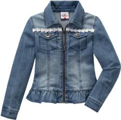 Mädchen Jeansjacke mit Spitze