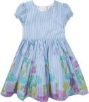Mädchen Kleid mit ausgestelltem Rockteil